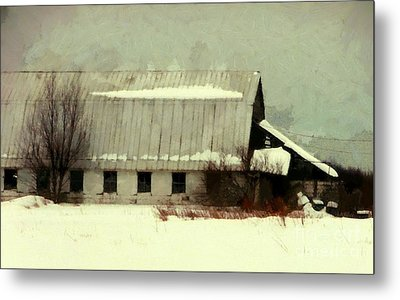 Metal Print featuring the photograph Long Cold Winter - Winter Barn by Janine Riley