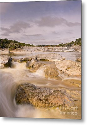 Long Exposure Of The Pedernales River - Pedernales Falls State Park Texas Hill Country Metal Print by Silvio Ligutti