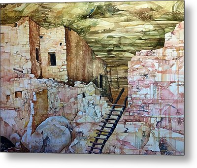 Long House, Mesa Verde National Park Metal Print by Lance Wurst