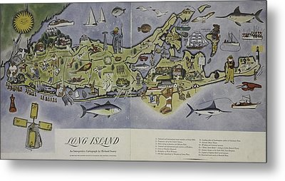 Metal Print featuring the photograph Long Island An Interpretive Cartograph by Duncan Pearson