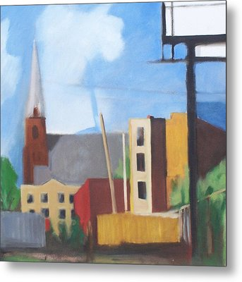 Long Island City Church Metal Print