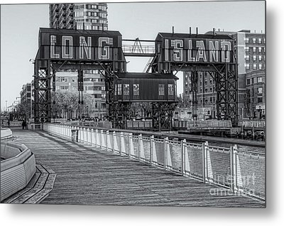 Long Island Railroad Gantry Cranes Iv Metal Print by Clarence Holmes