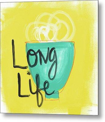 Long Life Noodles- Art By Linda Woods Metal Print by Linda Woods
