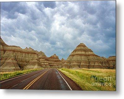 Long Lonesome Highway Metal Print
