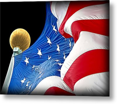 Long May She Wave The American Flag Metal Print by Jennie Marie Schell