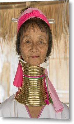 Metal Print featuring the photograph Long Necked Karen Woman by Wade Aiken