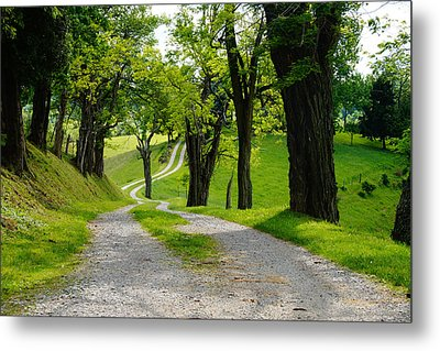 Long Road Metal Print by Mike Murdock