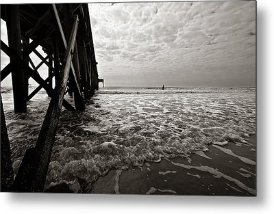 Metal Print featuring the photograph Long To Surf by David Sutton