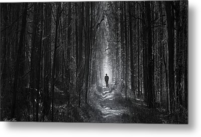 Metal Print featuring the photograph Long Way Home by Bernd Hau