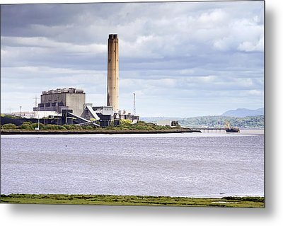 Metal Print featuring the photograph Longannet Power Station by Jeremy Lavender Photography