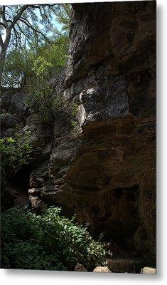 Metal Print featuring the photograph Longhorn Caverns Entrance by Karen Musick