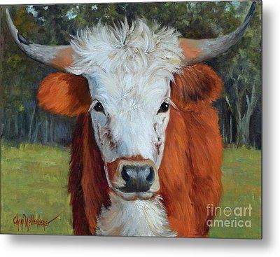 Longhorn Cow Painting II, Ms Tilly  Metal Print