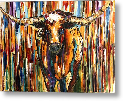 Longhorn Way  Metal Print