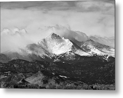 Longs Peak And A Mean Storm Metal Print by James BO  Insogna