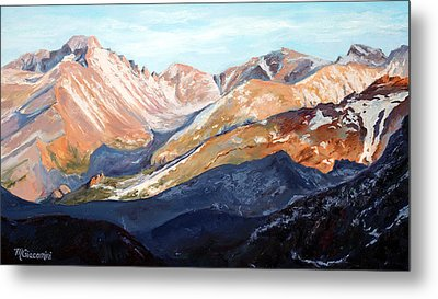 Longs Peak From Trail Ridge Road Metal Print