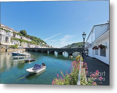 Looe Bridge In Cornwall Metal Print