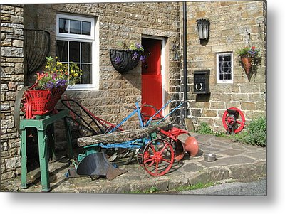 Looking At A Old Stone House Metal Print by Joyce Woodhouse