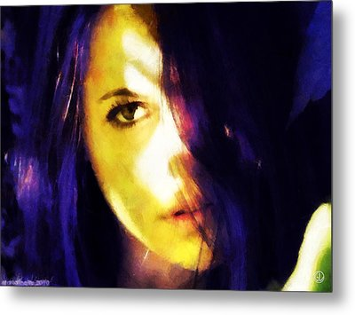 Metal Print featuring the digital art Looking At The World With One Eye Is Enough by Gun Legler