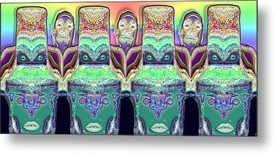 Metal Print featuring the digital art Looking At You by Ron Bissett