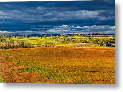Looking Back At Antietam Metal Print