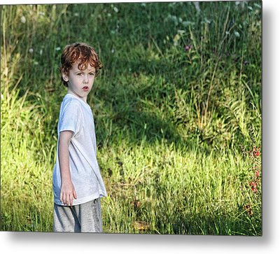 Looking Back Metal Print by Denise Romano