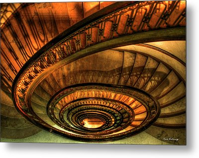 Looking Down The Ponce Stairs Opened In 1913 Metal Print by Reid Callaway