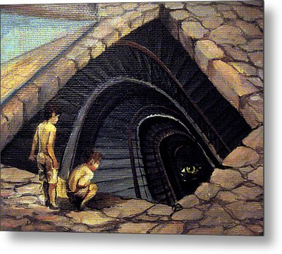 Looking Into Abyss Metal Print