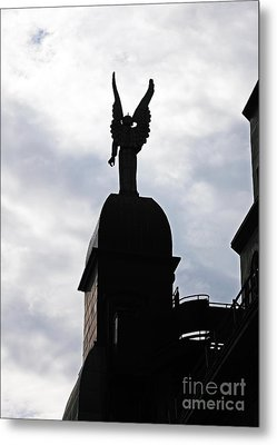 Looking Out In Montreal Metal Print by John Rizzuto
