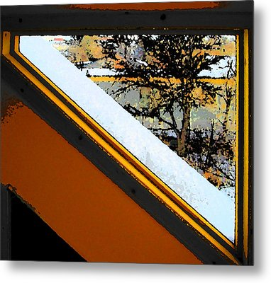 Looking Out My Brothers Window Metal Print by Lenore Senior