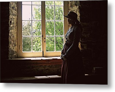 Looking Out Of The Window Metal Print