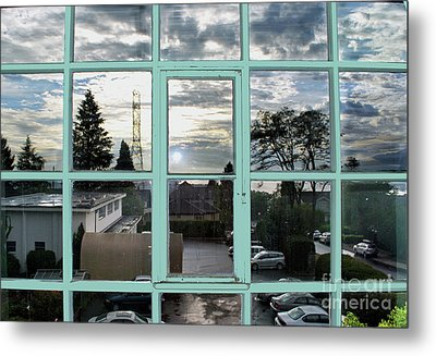 Metal Print featuring the photograph Looking Out The Window by Bill Thomson