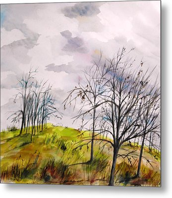 Metal Print featuring the painting Looking Past To The Changing Sky by John Williams