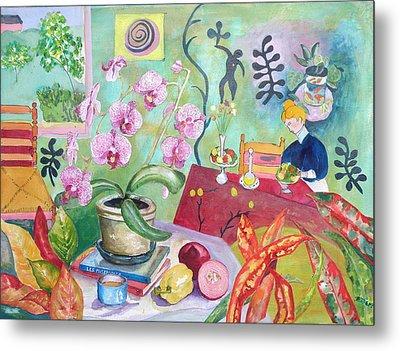 Looking Through Matisse's Window Metal Print by Elizabeth Ferris