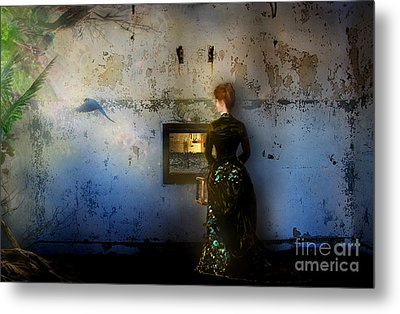 Looking Through The Past To The Future Metal Print by Carrie Jackson