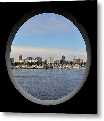 Looking Through The Queen's Porthole Metal Print