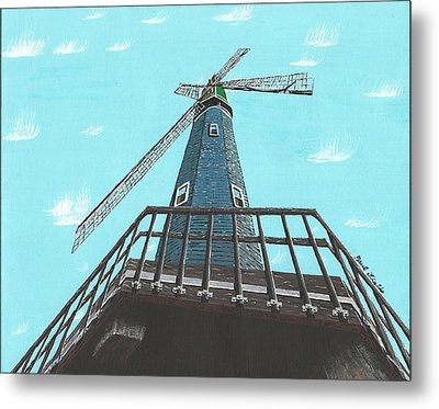 Looking Up At A Windmill Metal Print