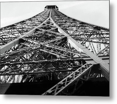 Metal Print featuring the photograph Looking Up From The Eiffel Tower by Darlene Berger