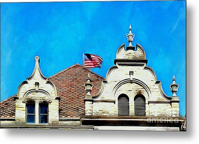 Metal Print featuring the photograph Looking Up - Scranton Proud by Janine Riley