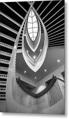 looking up the MCA stairs Metal Print