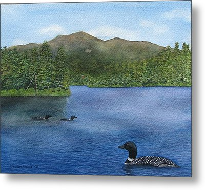 Loon Lake Metal Print by Sharon Farber