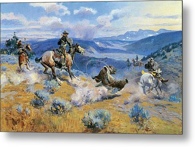 Loops And Swift Horses Are Surer Than Lead Metal Print by Charles Russell