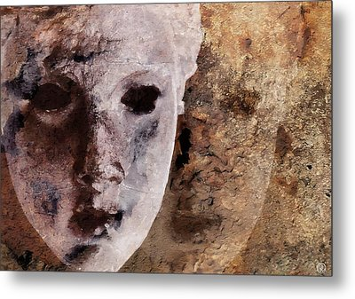 Loosing The Real You Behind The Mask Metal Print