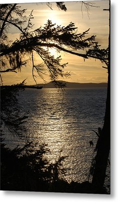 Lopez Island Sunset Metal Print by Gene Ritchhart