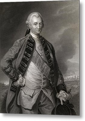 Lord Clive Engraving From A Painting By Metal Print