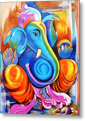 Lord Ganesh  Metal Print by Rupa Prakash
