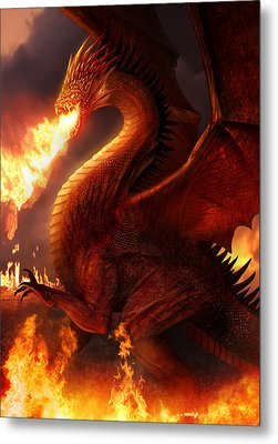 Lord Of The Dragons Metal Print by Philip Straub
