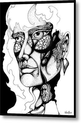 Metal Print featuring the drawing Lord Of The Flies Study by Curtiss Shaffer