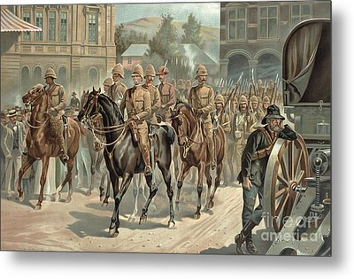 Lord Roberts Entry Into Pretoria Metal Print by Richard Caton Woodville