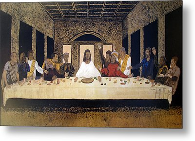 Lord Supper Metal Print