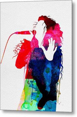 Lorde Watercolor Metal Print